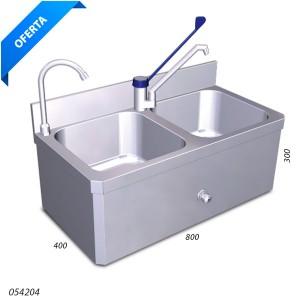 Conjunto lavamanos y fregadero