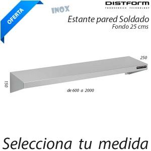 Estantería pared Soldada (Fondo 25 cms)