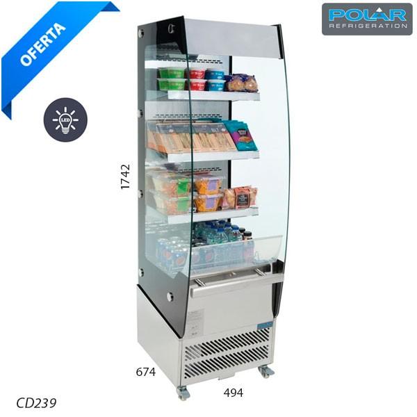 Vitrina tapas refrigerada 3 pisos - 6 bandejas