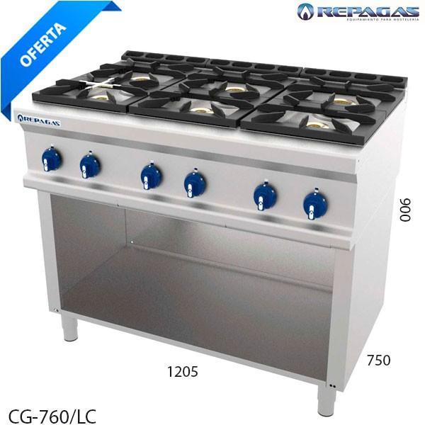 Cocina 6 fuegos Repagas