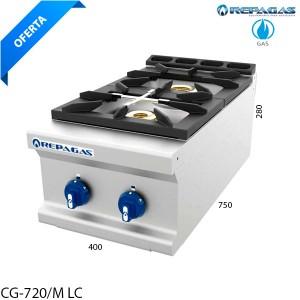 Cocina sobremesa 2 fuegos Repagas