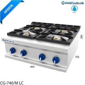 Cocina sobremesa 4 fuegos Repagas
