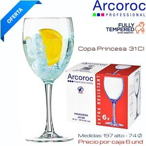 Copa Agua Princesa 31 Cl (Caja 6 und)