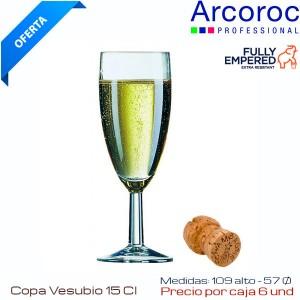 Copa Flauta Vesubio 15 Cl (Caja 6 und)