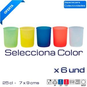 Vasos colores Mod. Formas