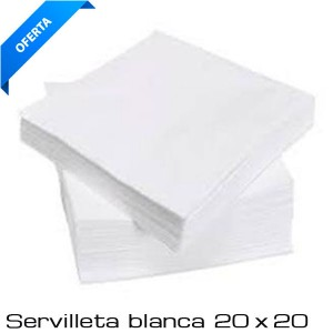 Servilleta 20 x 20 Cocktail Blanca ( paq 100 unds)