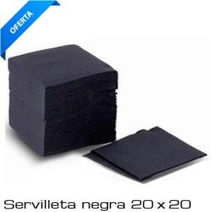 Servilleta 20 x 20 Cocktail Negra