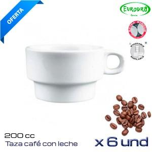 Taza Cafe con leche 200cc (Caja 6 und)