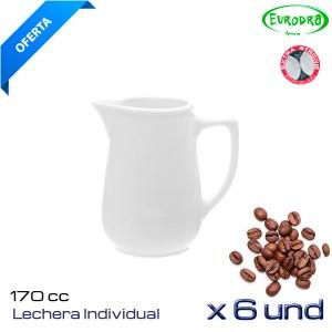 Lechera individual porcelana (Caja 6 und)