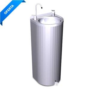 Fuente agua columna con pedal