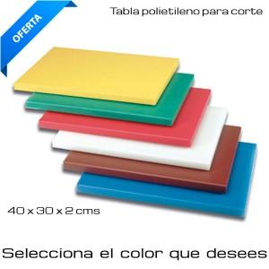 Tabla de corte 40 x 30 x 2 cm (Selec color)
