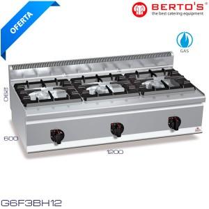 Cocina a gas 3 fuegos Bertos