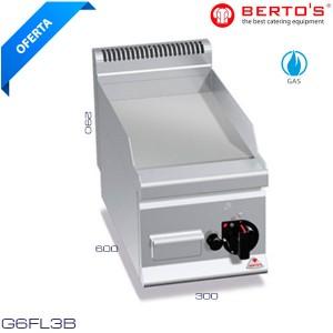FRY TOP a gas de acero rectificado Bertos