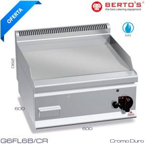 FRY TOP a gas de cromo duro Bertos