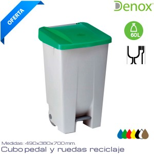 Cubo de basura Industrial 60 Lts