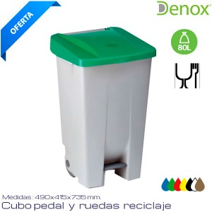Cubo de basura Industrial hosteleria 80 Lts