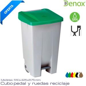 Cubo de basura Industrial 120 Lts