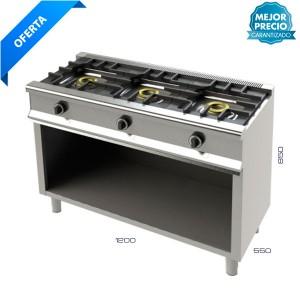Cocina 3 fuegos + Soporte
