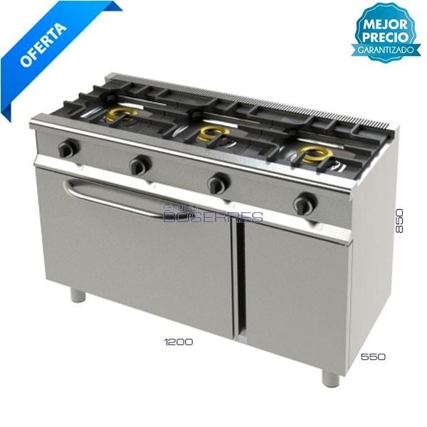 Cocina 3 fuegos + horno
