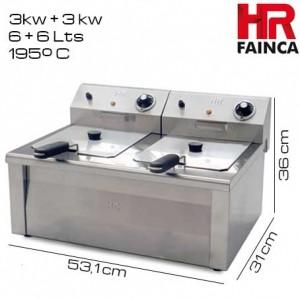 Freidora 6+6 litros HR