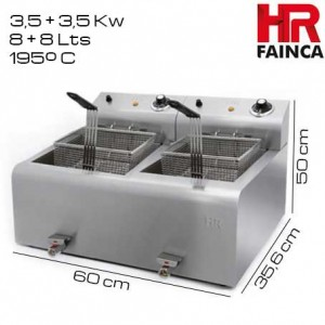 Freidora 8+8 litros HR