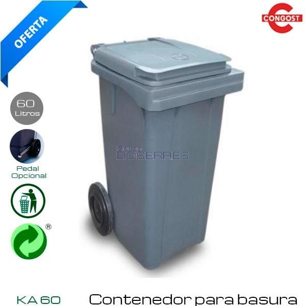 Cubo de basura industrial con tapa 50 Lts