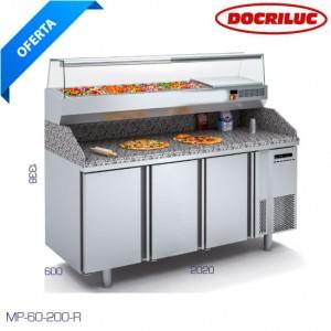 Mesa refrigerada para pizzería Docriluc