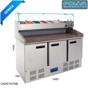 Mesa refrigerada pizza polar