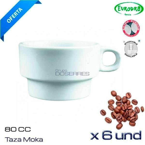 Taza de moka 80 cc porcelana