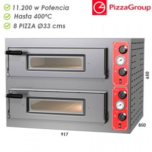 Horno de pizza eléctrico 4+4