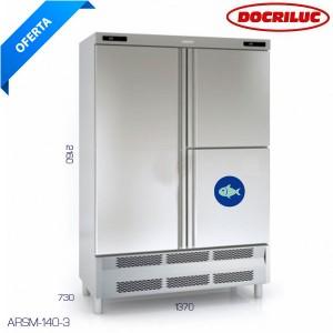 Armario refrigeración con departamento de pescado