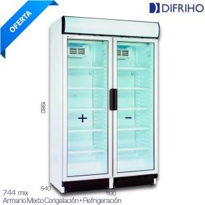 Vitrina recta 1500x800x1235