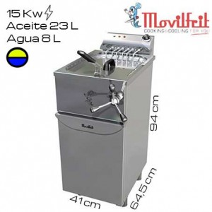 Freidora industrial agua y aceite movilfrit