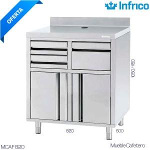 Minicámara frigorífica Multiusos con barra y ganchos para colgar