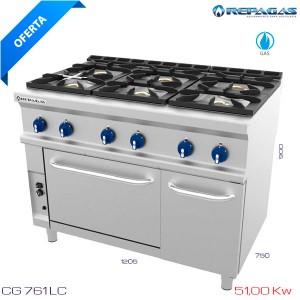 Cocina industrial con horno Repagas