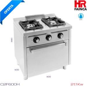 Cocina 2 fuegos+horno snack