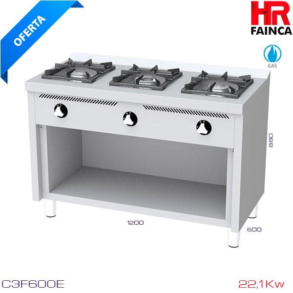 Cocina 3 fuegos barata