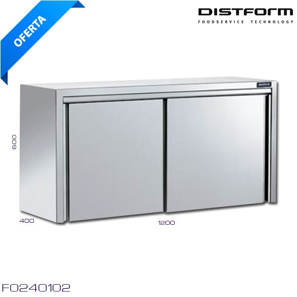 Estanteria inox pared eco 1000x300