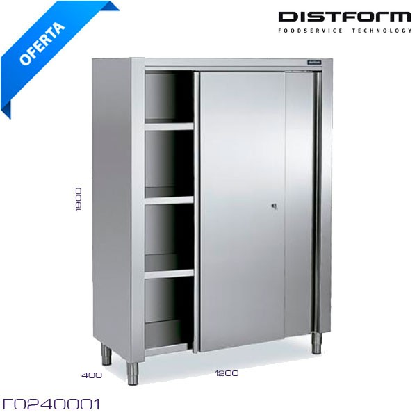 Estanteria inox pared eco 1400x300