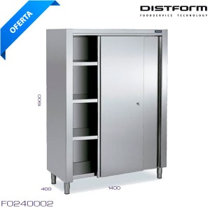 Estanteria inox pared eco 1400X400