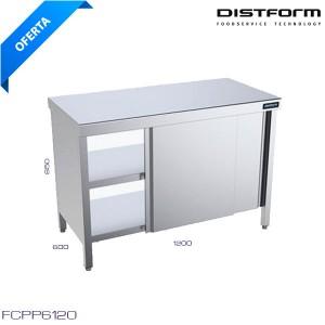 Mesa de trabajo central con puertas 1200x600x850