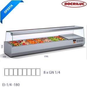 Expositor refrigerada para ensaladas y pizzas IE