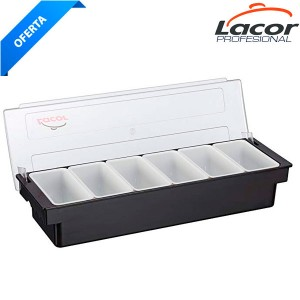 Caja 6 compartimentos con tapa
