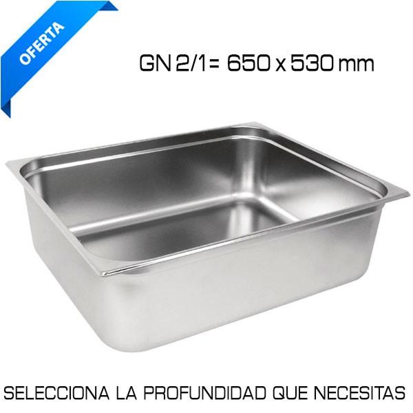Cubeta Gastronorm GN 2/1