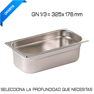 Cubeta Gastronorm GN 1/3