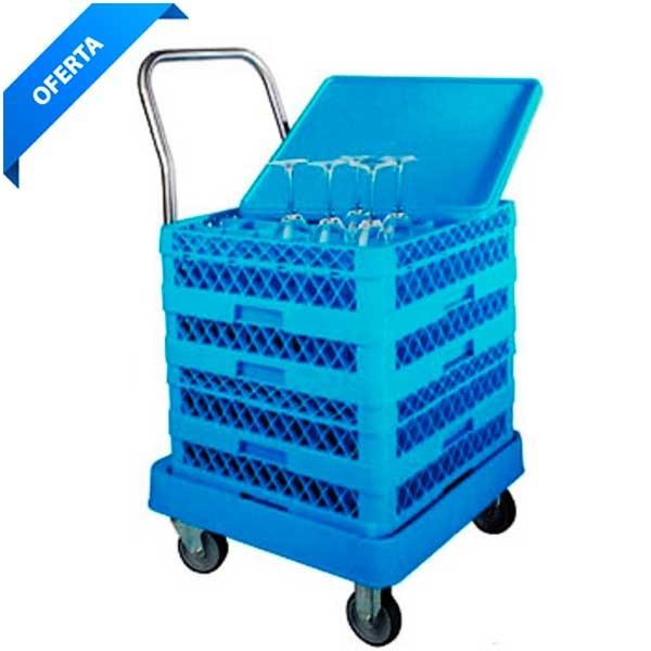 Carro para cestas de lavavajillas industrial
