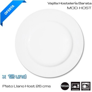 Plato Llano Host 26 cms (12 und)