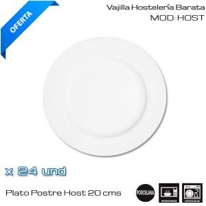 Plato Postre Host 20 cms (24 und)