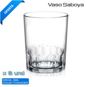 Vaso Saboya 4 Vidrio 25CL. (24 und)