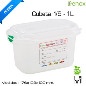 Hermético Gastronorm 1/9 - 100 mm